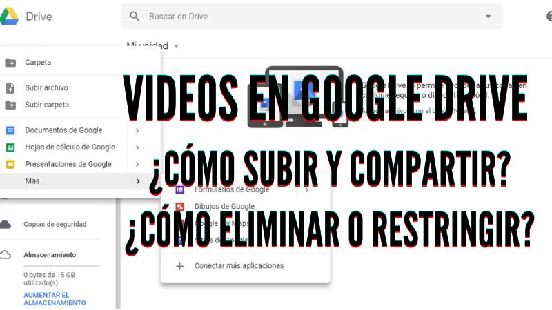 ¿Cómo Subir un Video a Google Drive y Compartirlo?