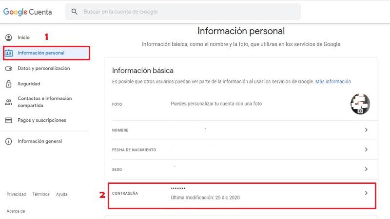 Cómo Cambiar mi Contraseña de Gmail en PC