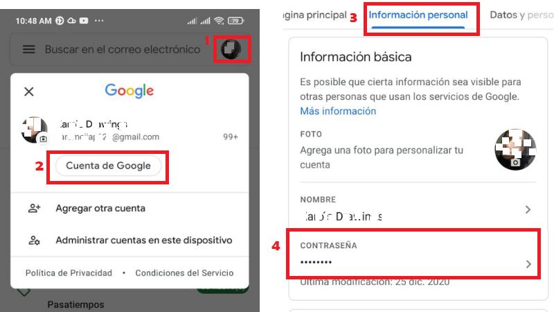 Cómo Cambiar mi Contraseña de Gmail en el Celular
