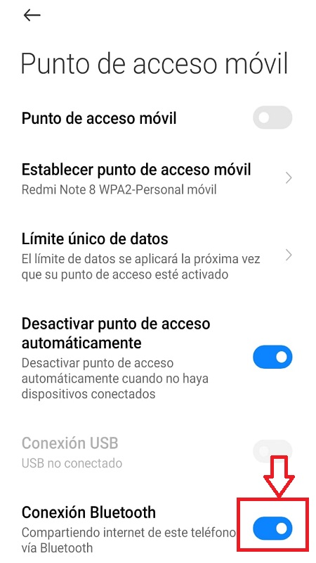 Como Compartir Internet por Bluetooth