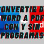 Como Convertir un Archivo Word a PDF