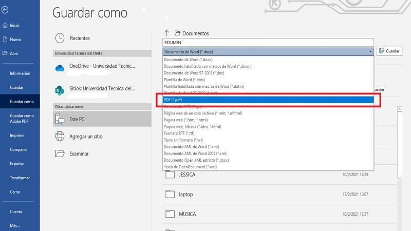 Cómo Convertir un Archivo Word a PDF sin Programas