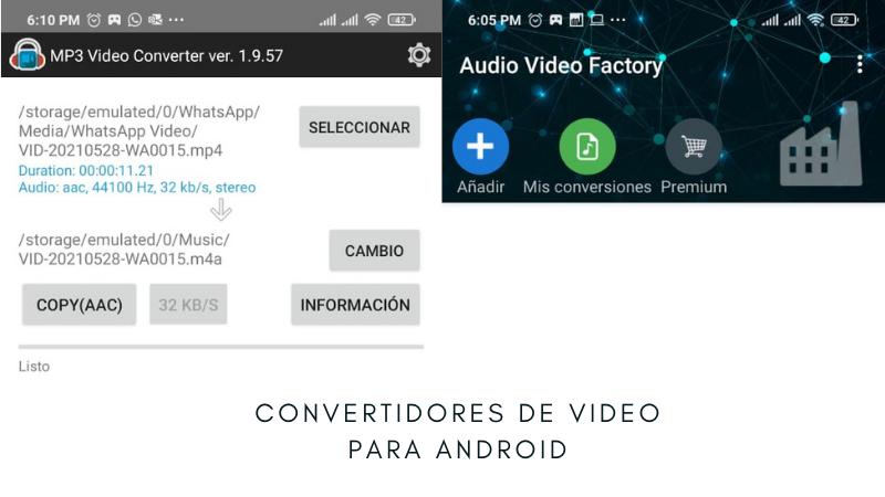 Convertidores de video a pm3 para android