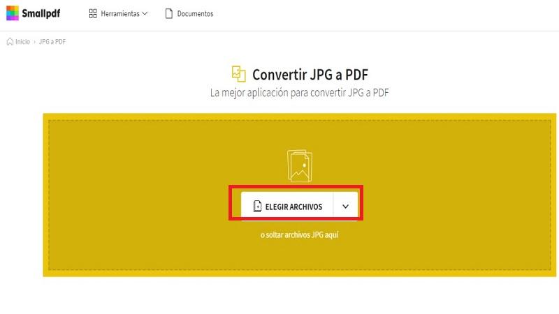Como Convertir una Imagen en PDF online (Smallpdf)