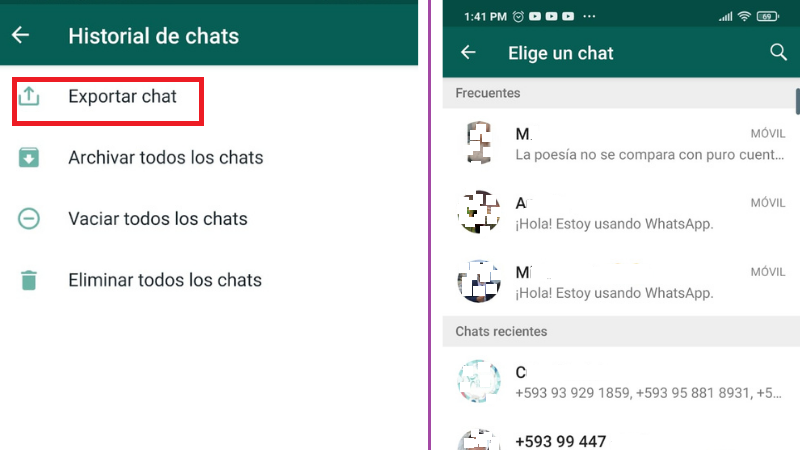 Como Exportar Chats de WhatsApp por Correo Electrónico