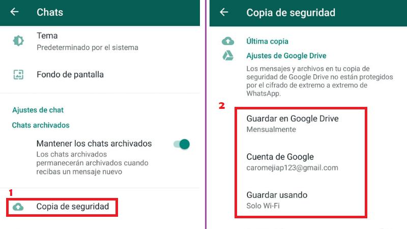 Como Guardar una Conversación de WhatsApp en Drive