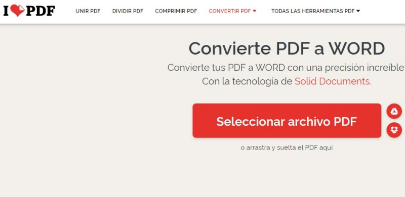 como convertir pdf a word gratis online